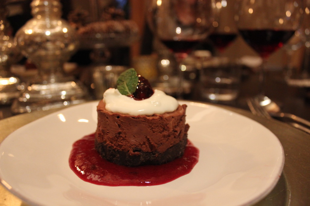 chocolate dessert, wine pairing dinner | Wander & Wine