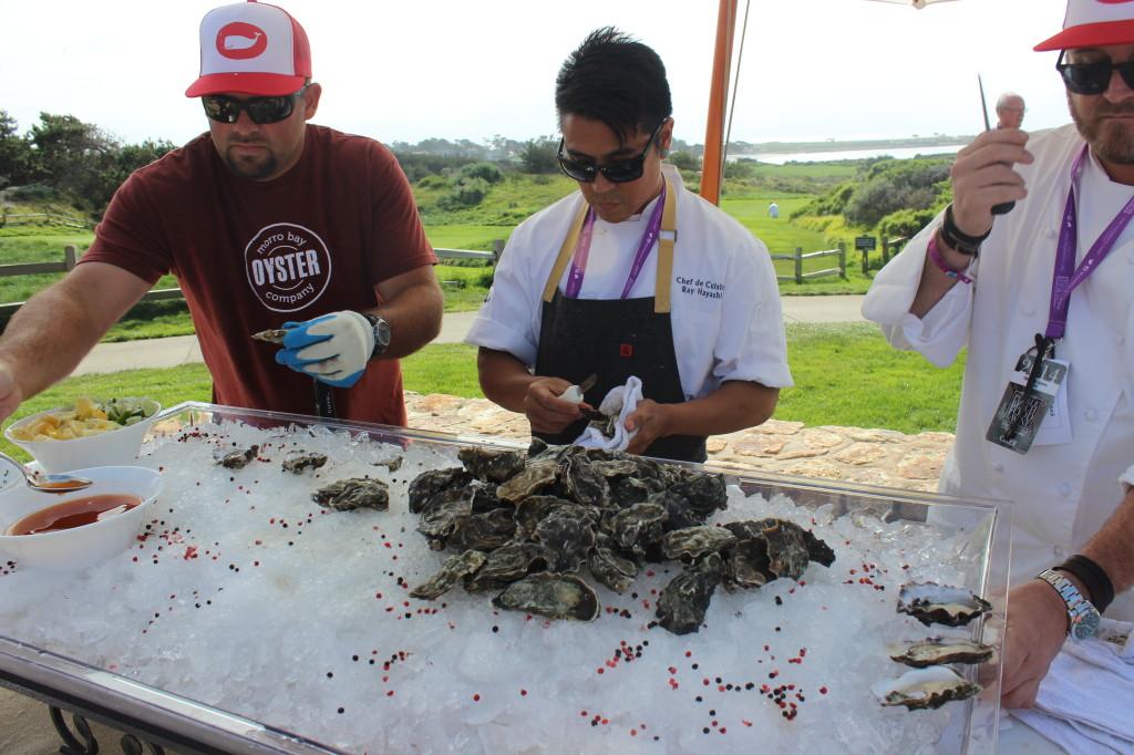 Oyster Shucking at PBFW | Wander & Wine
