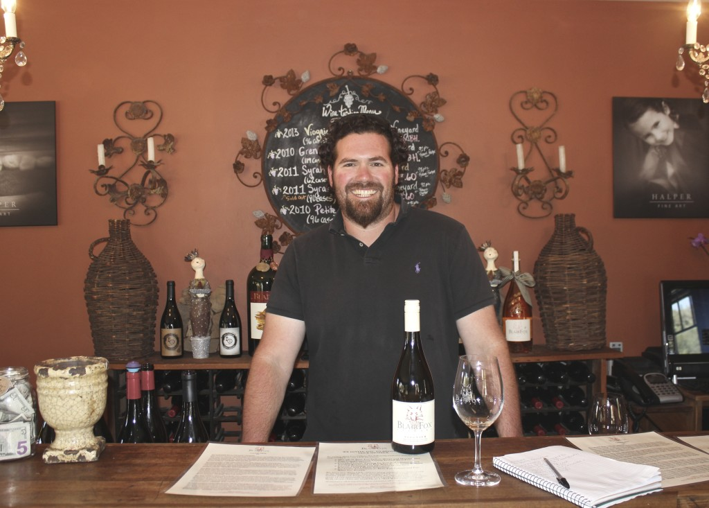 Blair Fox at his tasting room in Los Olivos | Wander & Wine