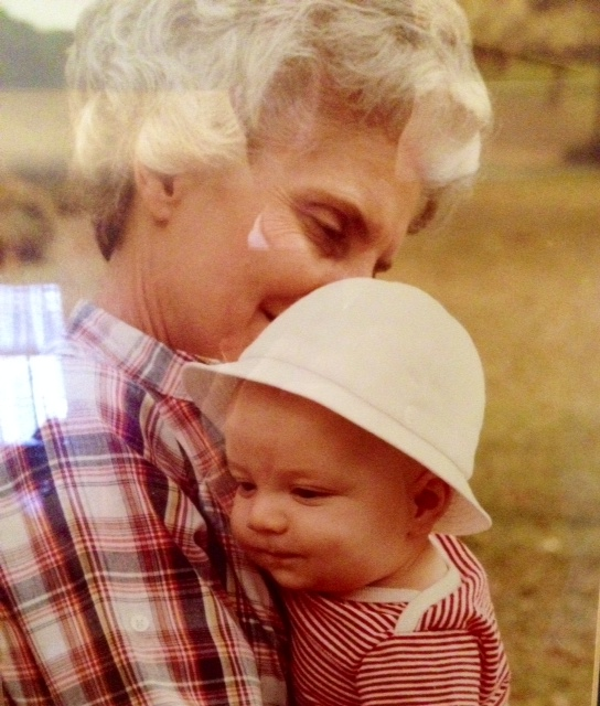 Baby Nat Gunter with his grandma