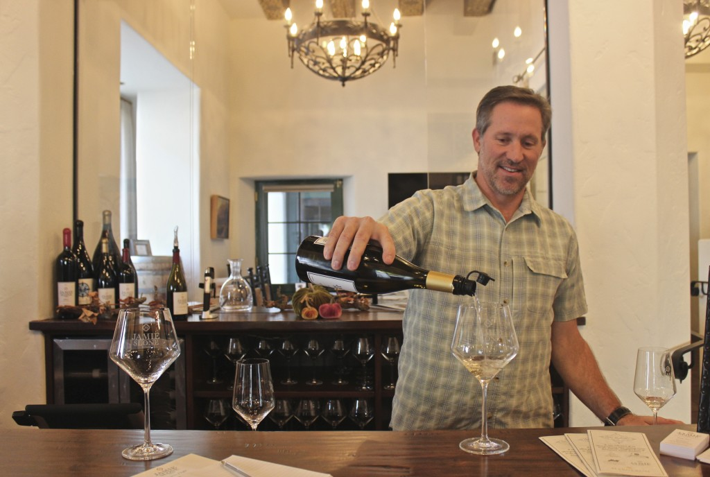 Jamie Slone pouring his wine | Wander & Wine