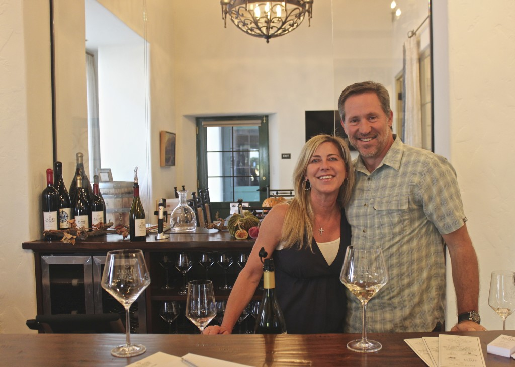 Jamie & Kym Slone in their Santa Barbara tasting room | Wander & Wine