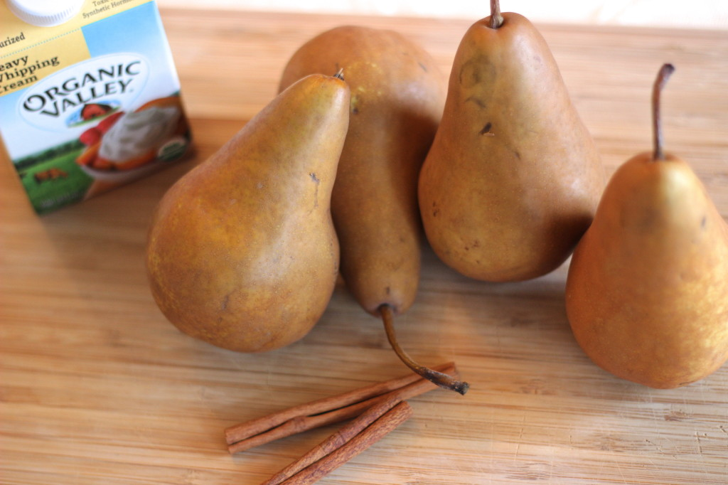 Cinnamon-Poached Pears with Caramel Sauce - the perfect Valentine's Day dessert | Wander & Wine