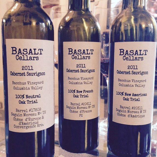 Basalt Cellars oak trio | Wander & Wine