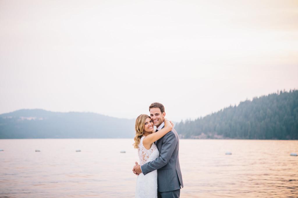 Lakeside wedding - photos by Lisa Mallory Photography | Wander & Wine
