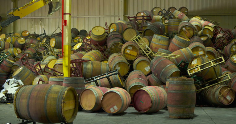 Destroyed Barrels