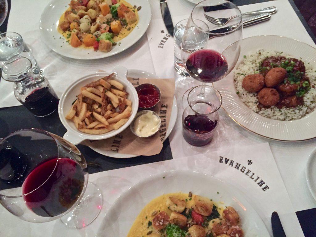 Frites & gnocchi at Evangeline