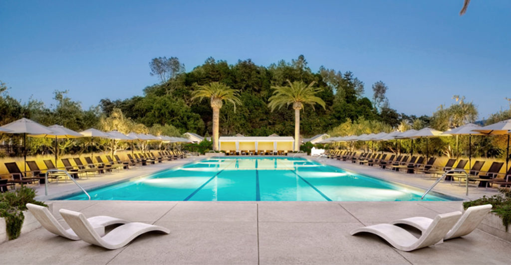 The pool at Solage / photo provided by Solage Calistoga